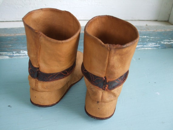 Boots Leather Child's Leather Cowboy Boots 1930s … - image 3