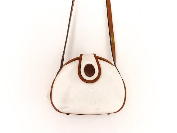 Vintage White Purse Handbag Crossbody Bag / White