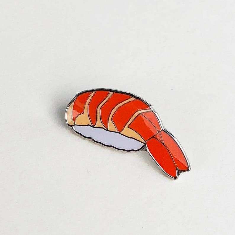 Shrimp Ebi Sushi Enamel Pin Japanese Food Lapel Pin Etsy