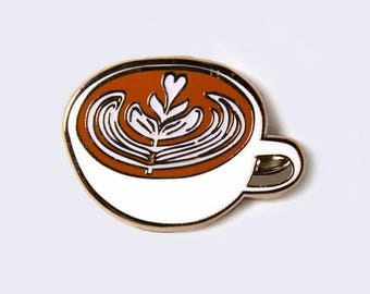 Latte Enamel Pin (Glow-in-the-Dark)