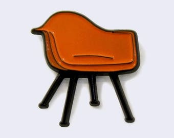 Eames Arm Shell Chair Mid Century Modern Enamel Pin - Chair Enamel Pins - Furniture Lapel Pins
