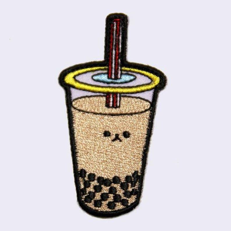 3fec8c63c12 Boba Bubble Tea Embroidered Patch Milk Tea