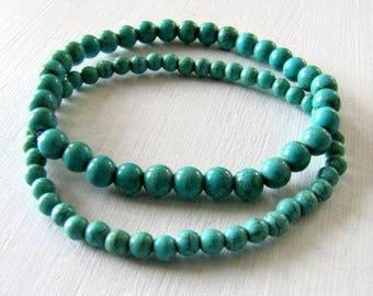 Turquoise Bracelet Yoga Bracelet Layering Bracelet Boho Bracelet Boho Jewelry Tribal Jewelry Stacking Bracelet Stone Bracelet Casual Jewelry