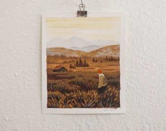Hiker 2 (original painting, small)