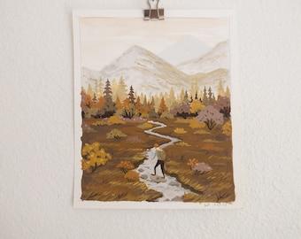 Hiker (original painting, small)