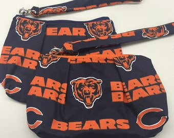 Chicago Bears Double Pleated Wristlet