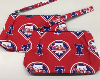 Philadelphia Phillies Double Pleated Wristlet