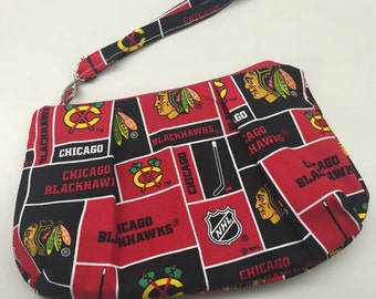 Chicago Blackhawks Double Pleated Wristlet