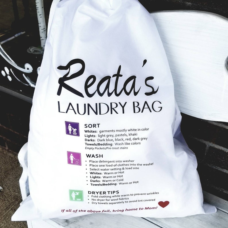 Personalized Laundry Bag ** Graduation Gift ** Male or Female Gift ** College Gift