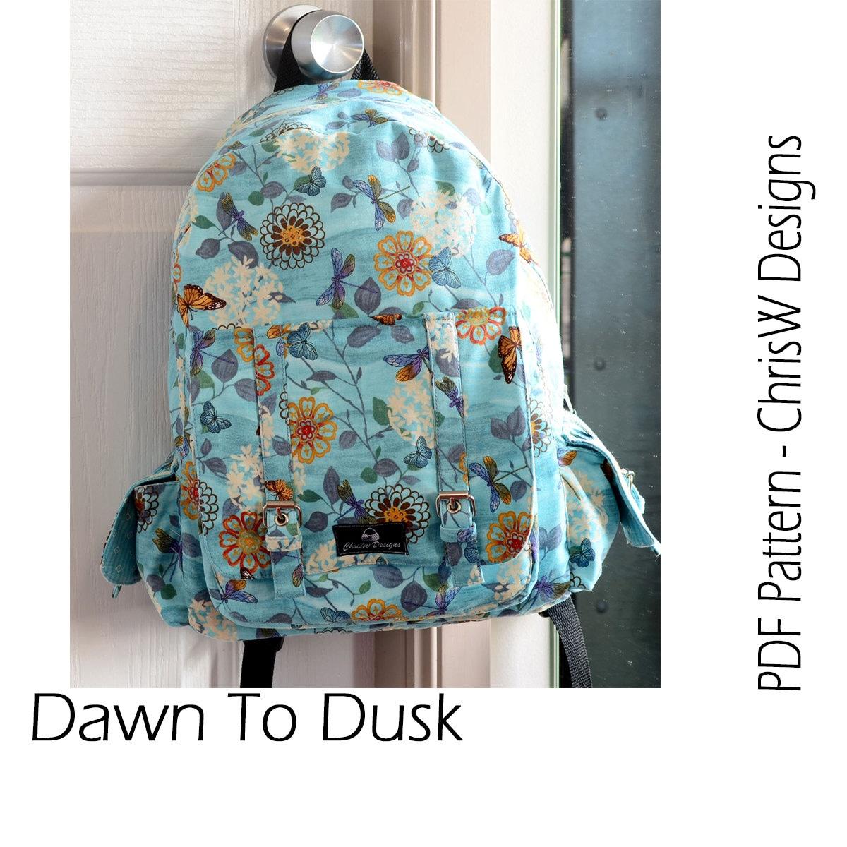 f0f7874ba41 Backpack PDF sewing pattern Rucksack Dawn To Dusk   Etsy