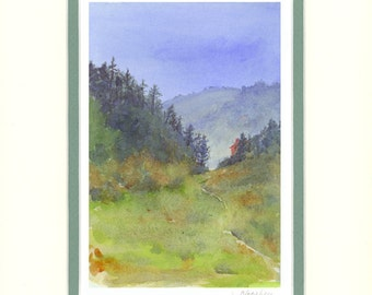 Up in the Holler 8x10 matted reproduction