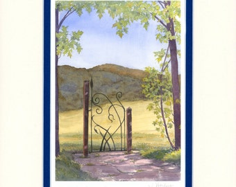 Gateway to Dreams 11x14 matted reproduction