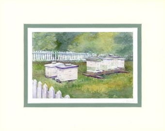 Leigh's Bees 8x10 matted print