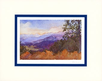These Healing Mountains 11x14 matted reproduction