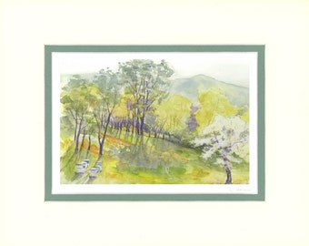 Morning in the Bee Field 8x10 matted print