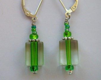 Green Glass Lever backs