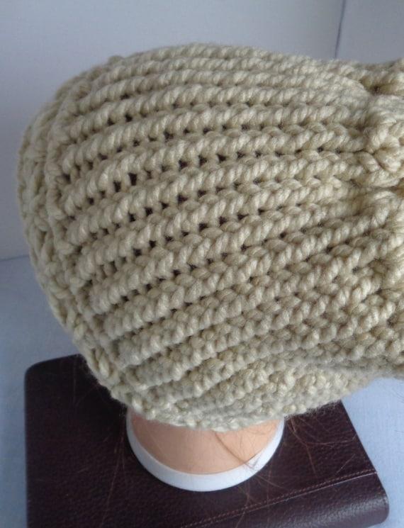 6b0dfe0b3f2 Beige Knitted Messy Bun Hat Cream Beige Messy Bun Beanie