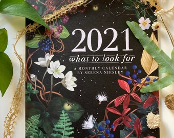 What to Look For 2021 Calendar local botanical plants and flowers