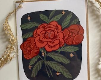 Self Love Rose Card