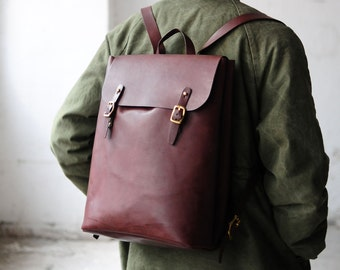 Artemis Leatherware Hand Stitched Large Leather Backpack