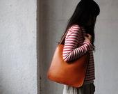 Artemis Leatherware Hand Stitched RECTANGULAR Leather Tote Bag/ Purse/ Handbag/ Laptop