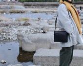 Artemis Leatherware Hand Stitched SQUARE Box Leather Handbag/ Purse/ Shoulder Bag