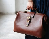 Artemis Leatherware Hand Stitched Leather Doctor Bag/ Carry On Bag