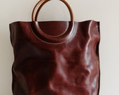 Hand Stitched Washed-Out Leather Tote Bag