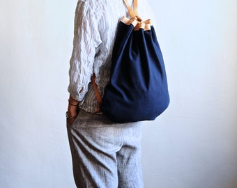 Handmade Leather And Canvas Backpack-Light Version_NEW!
