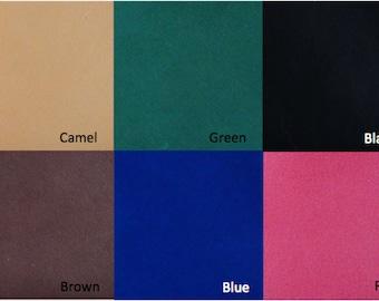 Artemis Leatherware Leather Color Sample Card