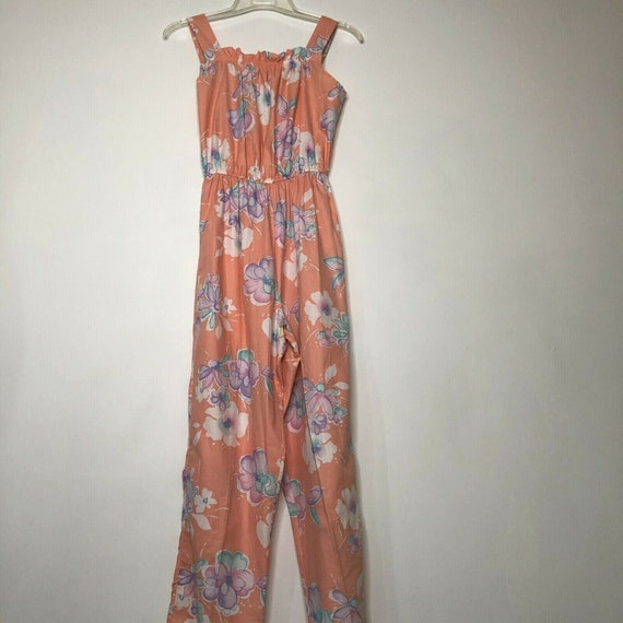 VTG 80s Clovis Ruffin Jumpsuit One Piece Playsuit