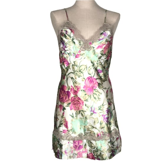 S Vintage Victoria/'s Secret Slip Nightie Chemise Dress Small Gold Label