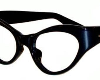 Vintage Black Cat Eye Eyeglass Frames Never Used