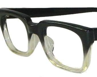 058be9cffe6 Vintage 1950s Black Fade Mens Eyeglass Frames Never Used