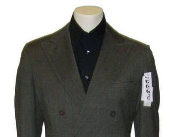 Vintage 1960's Green Double Breasted Suit