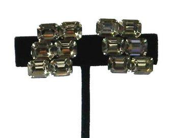Vintage 1950s Kramer Rhinestone Earrings