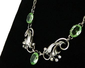 Vintage 1940s Sterling Silver Necklace