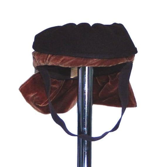 Vintage 1940s Brown Tilt Hat
