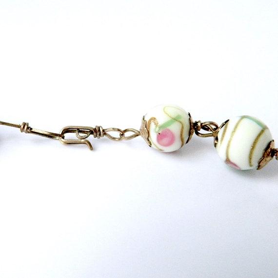 Vintage Italian Venetian Glass Beaded Necklace - image 4