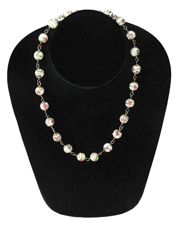Vintage Italian Venetian Glass Beaded Necklace - image 2