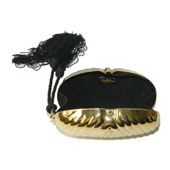 Vintage 1980s Clamshell Clutch Purse - image 4