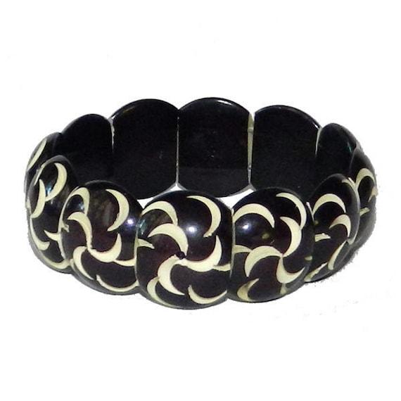 Vintage 1930's Celluloid Expansion Bracelet