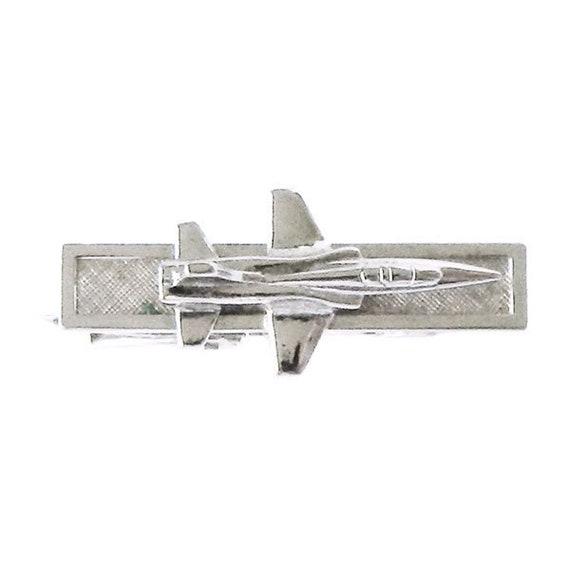 Vintage 1960s Fighter Jet Airplane Tie Clip