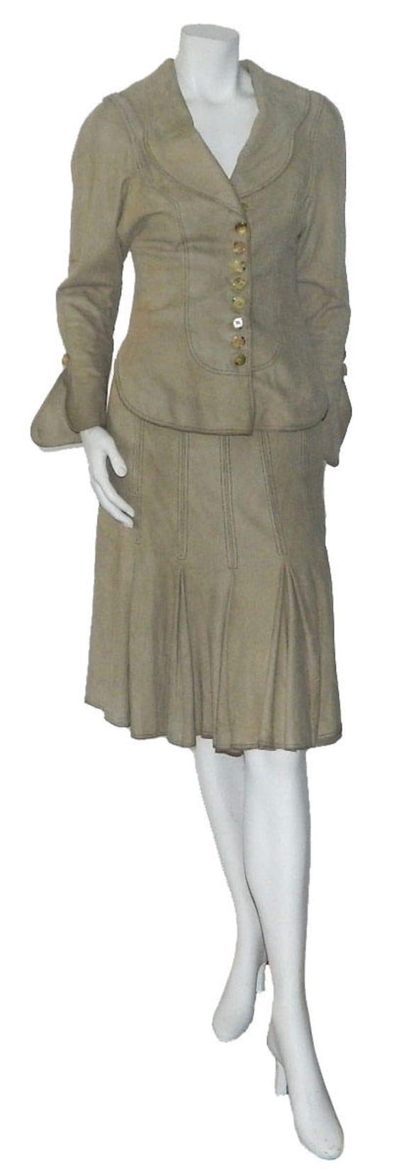 Vintage Bill Gibb Designer Suede Suit Get The Lond