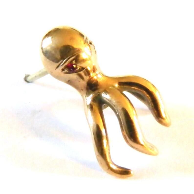 Vintage Gold Octopus Tie Tack