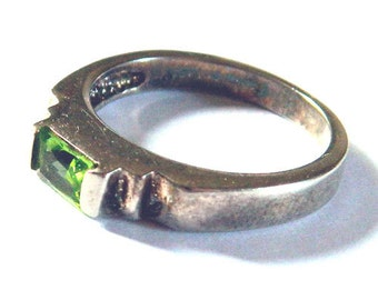 Vintage Art Deco Sterling Silver Ring Size 7 1/2