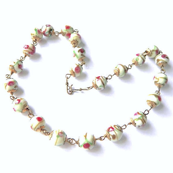 Vintage Italian Venetian Glass Beaded Necklace - image 7