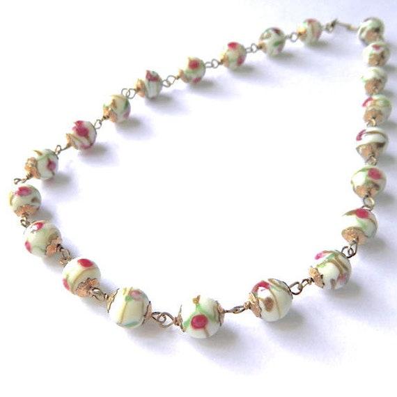 Vintage Italian Venetian Glass Beaded Necklace - image 3