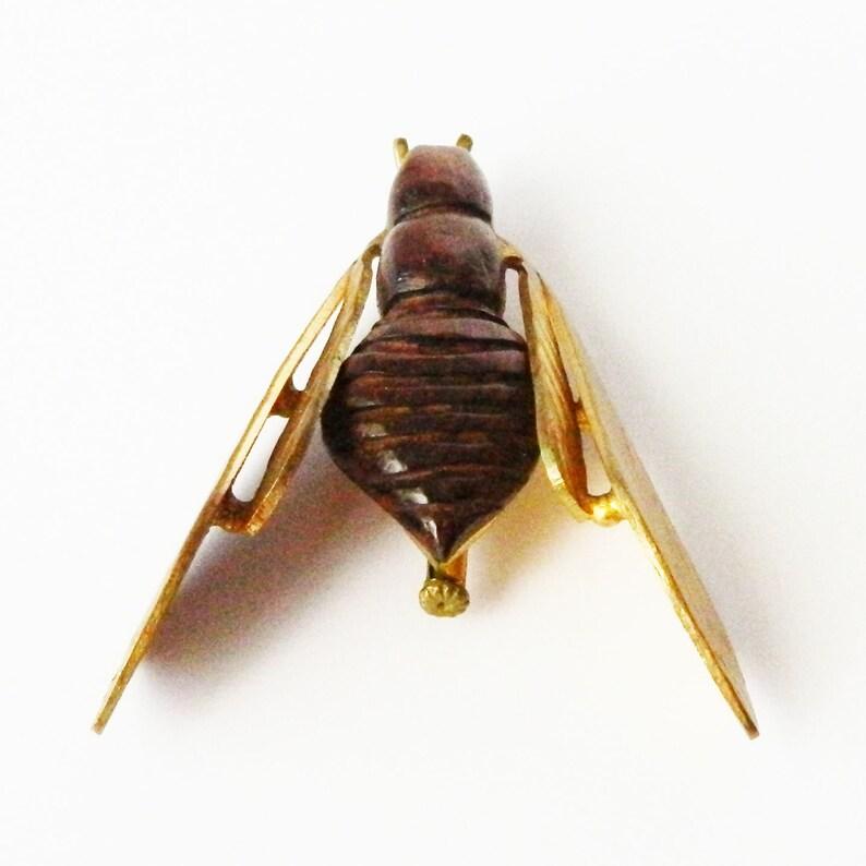 Vintage 1950s Rosewood Cicada Brooch