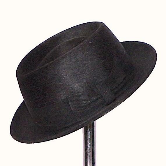 Vintage 1960s Pork Pie Hat by Dobbs Size Small 6 7